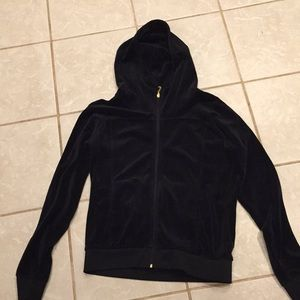 Juicy Couture hoodie black velour size L